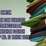 Jadwal Bimtek PP No 13 Tahun 2019